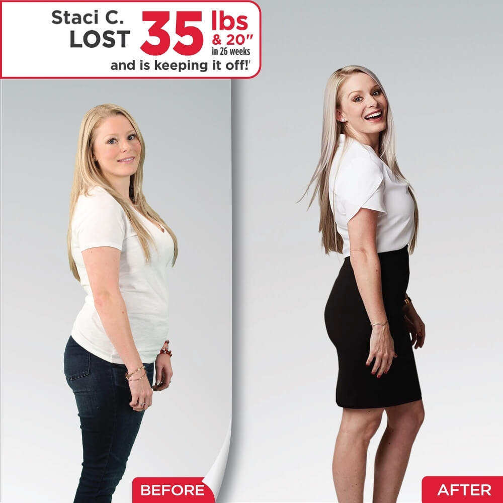 Staci Lost 35 lbs. and 20″ in 26 weeks