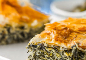 Feta and Spinach Pie with Chopped Salad featured image